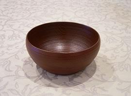 漆芸作品-楡の鉢小(赤)