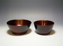 漆芸作品-4寸小鉢・3.5寸小鉢